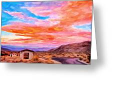 Sunset From Palm Canyon Greeting Card by Michael Pickett