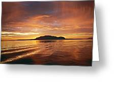 Sunset In Alesund Greeting Card by Christine Rivers