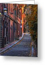 Sunset In Beacon Hill Greeting Card by Joann Vitali