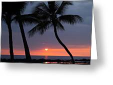 Sunset In Hawaii Greeting Card by Athala Carole Bruckner
