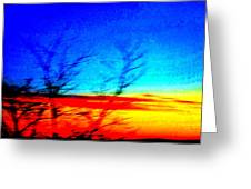 sunset in Oslo Greeting Card by Hilde Widerberg