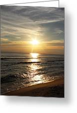 Sunset In Panama City Greeting Card by Vicki Kennedy