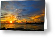 Sunset In Paradise - Beach Photography By Sharon Cummings Greeting Card by Sharon Cummings