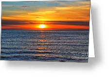 Sunset In San Clemente Greeting Card by Mariola Bitner
