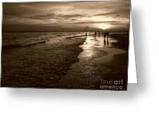 Sunset In Sepia Greeting Card by Jeff Breiman