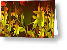 Sunset In The Jungle Greeting Card by Gayle Price Thomas