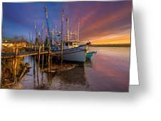 Sunset Lady Greeting Card by Debra and Dave Vanderlaan