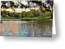 sunset lake I Greeting Card by Chuck Kuhn