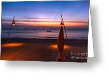 Sunset Lanta Island  Greeting Card by Adrian Evans