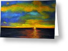 Sunset Greeting Card by Lenore Gaudet