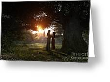 Sunset Lovers Greeting Card by Dominic Davison
