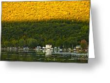 Sunset On Canandaigua Lake Greeting Card by Steve Clough
