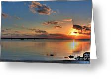 Sunset On Key Largo Greeting Card by Mel Steinhauer