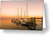 Sunset On The Dock Greeting Card by Southern Photo