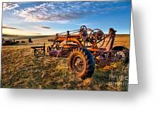 Sunset On The Farm In North Carolina I Greeting Card by Dan Carmichael