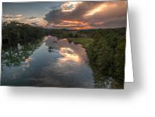 Sunset On The Guadalupe River Greeting Card by Paul Huchton