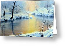 Sunset On The Sunrise River Greeting Card by Rick Hansen
