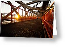 Sunset On The Williamsburg Bridge - New York City Greeting Card by Vivienne Gucwa