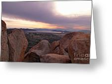 Sunset Over Diamond Valley Lake Greeting Card by Glenn McCarthy Art and Photography