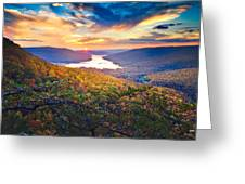 Sunset Over Mullins Cove Greeting Card by Steven Llorca