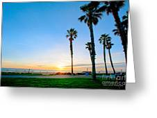 Sunset Over Santa Barbara Greeting Card by Artist and Photographer Laura Wrede