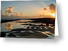 Sunset Over The Ocean IIi Greeting Card by Marco Oliveira