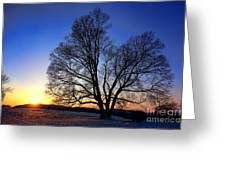 Sunset Over Valley Forge Greeting Card by Olivier Le Queinec