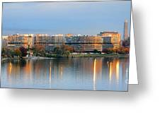 Sunset over Watergate Greeting Card by Olivier Le Queinec