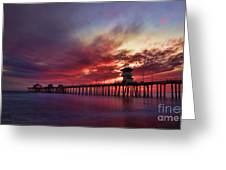 Sunset Greeting Card by Peter Dang