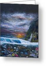 Sunset Reef Greeting Card by John Garland  Tyson