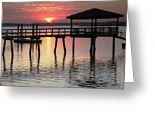 Sunset Reflections Greeting Card by Phill  Doherty