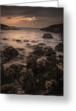 Sunset Seascape Greeting Card by Andy Astbury