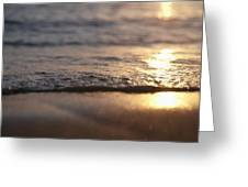 Sunset Shore Greeting Card by Brandon Tabiolo