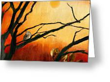 Sunset Sitting Greeting Card by Lourry Legarde