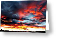 Sunset Sky Melts Into The Sangre De Cristo Mountains Greeting Card by Barbara Chichester