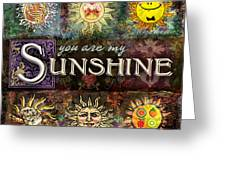Sunshine Greeting Card by Evie Cook
