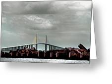 Sunshine Skyway Bridge Greeting Card by Joseph G Holland