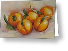 Sunstruck Peaches Greeting Card by Tracy Male
