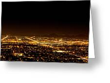 Super Moon Over Phoenix Arizona  Greeting Card by Susan Schmitz