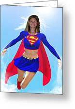 Super Nina Greeting Card by Allan  Hughes