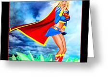 Supergirl 2085 Greeting Card by Alicia Hollinger