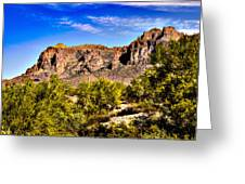 Superstition Mountain Arizona Greeting Card by  Bob and Nadine Johnston