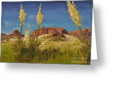 Superstition Mountain Greeting Card by Jack Hedges
