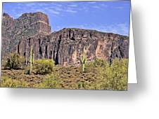 Superstition Wilderness Arizona Greeting Card by Christine Till