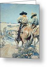 Supply Wagons Greeting Card by Newell Convers Wyeth