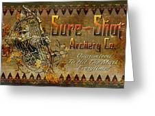 Sure Shot Archery Greeting Card by JQ Licensing