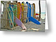 Surf Boards Greeting Card by Matt Radcliffe