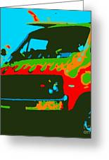 Surf Wagon Greeting Card by James Eye