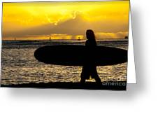 Surfer Dude Greeting Card by Juli Scalzi