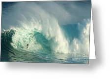 Surfing Jaws 3 Greeting Card by Bob Christopher